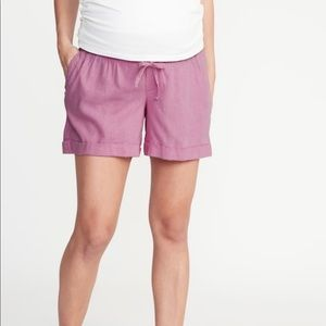 ✌🏼 for the price of one!! Maternity linen shorts